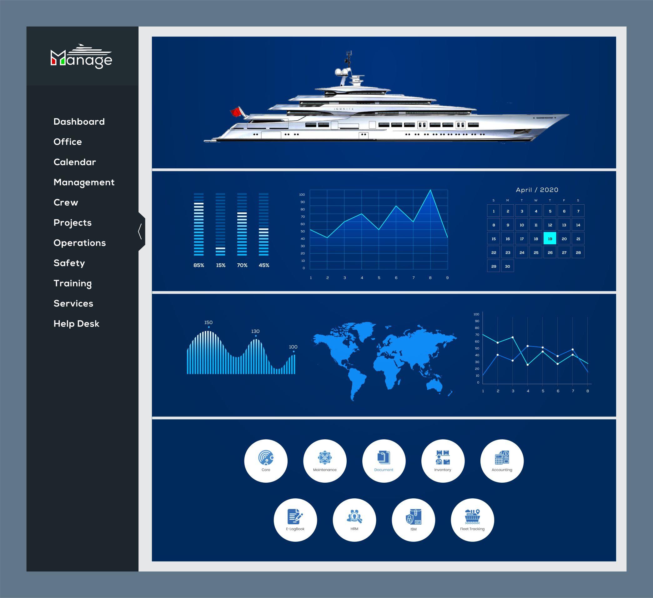 1st Online Yacht Management Platform
